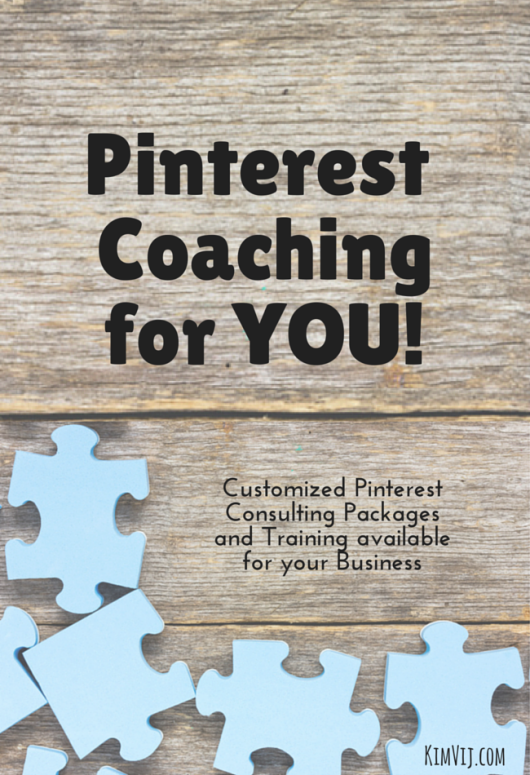 Pinterest Consulting Services available for your Business by Kim Vij.com