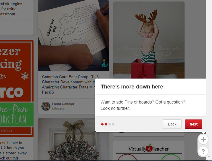 Pin It Buttons and Help Options on Pinterest