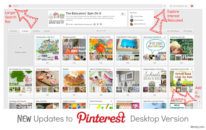 New Updates to Pinterest Desktop Version