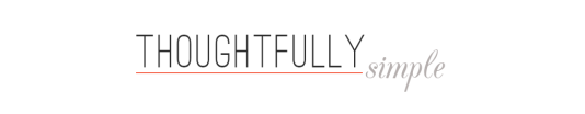 Thoughtfully Simply by Tori Tait