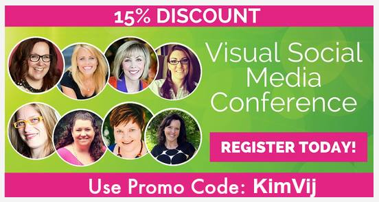 Visual Social Media Conference with 15% Discount Code from KimVij
